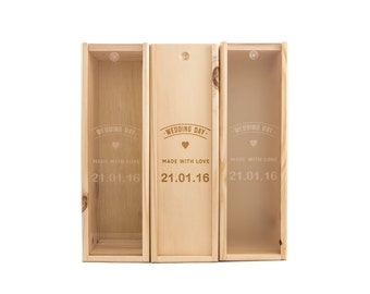 Wooden Wine Box (single) - Made with love