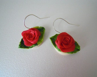 Sweet roses earrings