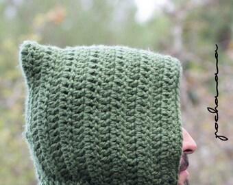 Scoodie hooded wool handmade capucha
