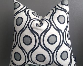 White, Gray, Black Decorative Linen Modern Pillow Cover-Throw Pillow-Sofa Pillow cover