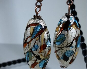 Silver Earrings Niobium Earrings Tribal Earrings Colorful Earrings Bohemian Earrings Idea for Gift for Mom Birthday Gift