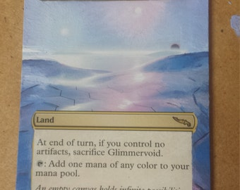 Glimmervoid altered art card
