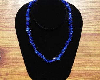 Necklace / Bracelet dark blue Howlite