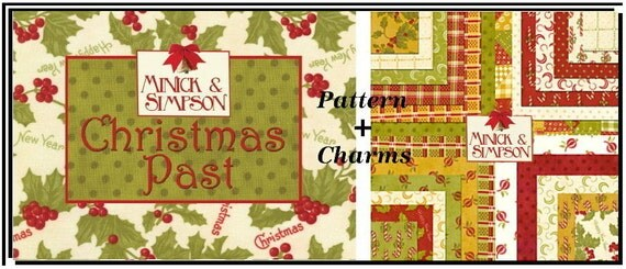 CHRISTMAS PAST Charm Pack Quilt Pattern / Quilt Squares Rare