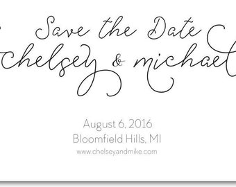 Wedding Save the Date - Printable - Custom