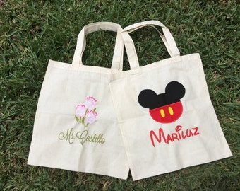 Personalized Tote Bag Teachers Tote,Teachers Bag,Embroidered tote,monogrammed tote, bridesmaid gift, Beach bag,Monogram
