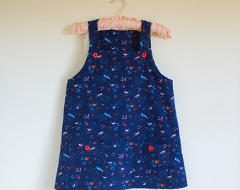 French Blue Corduroy Pinafore