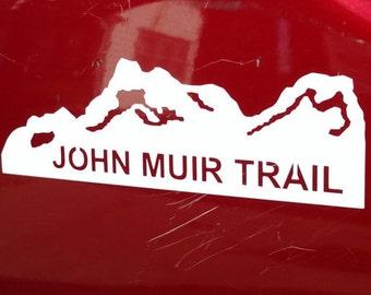John Muir Trail Sticker, Hiking, Sharp Industries