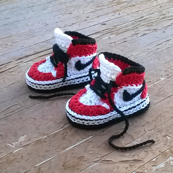 Crochet PATTERN. Air Jordans style baby sneakers. Instant Download.