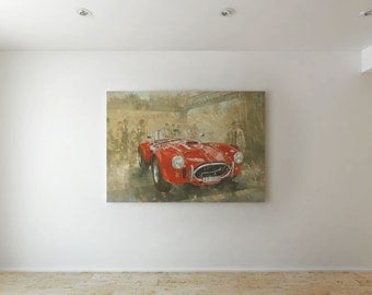 Old red car - Canvas decor