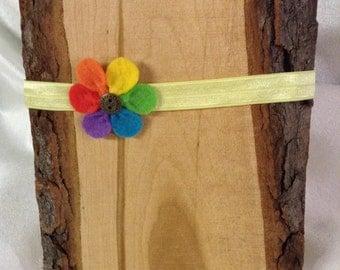 Beautiful Rainbow Daisy Headband