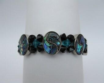 BR04 - Unique Handmade Lustrous Blue Bracelet.