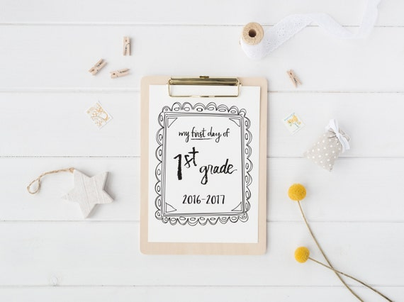 printable first day of school sign   back to school photo prop   digital download