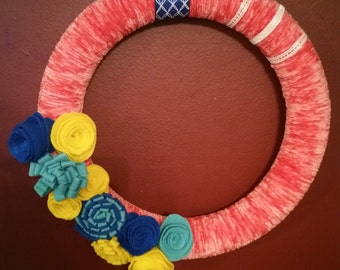 Coral Spring Wreath