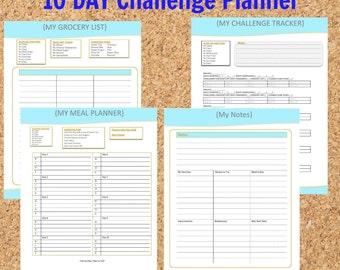 TWF ~ 10 Day No Junk Food Challenge Planner