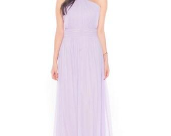 Ada Faith Grecian Maxi In Lilac