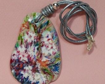 Pebble Stone Necklace   Sea Stone Jewellery   Beach Stone Necklace   Rock Jewelry    Elegant Pendant. Unique design. Made in Spain with love