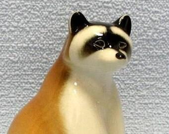 Raccoon. Porcelain figure.