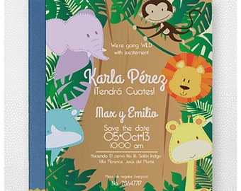 forest baby shower invitation