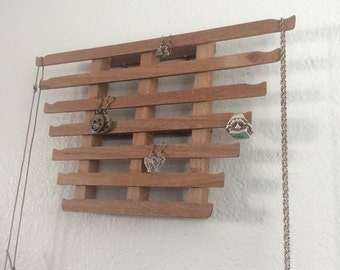 Jewelry Hanger reclaimed wood one of a kind jewelry storage wall decoration