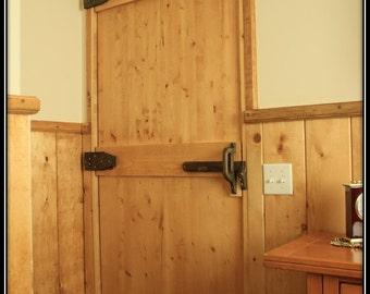 Wooden Walnut Interior Door Hinges, Handle, Thumb Latch
