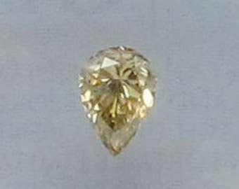 0.52 ct Pear Fancy brownish greenish Yellow GIA certified natural color