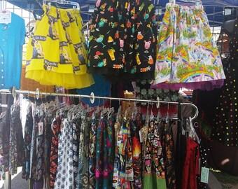 Custom Rockabilly &  Tiki time skirts