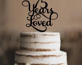 75 cake topper Etsy