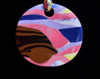 sunset colors and mountain pendent