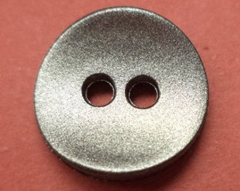 12 small buttons silver 12mm (1772) button small
