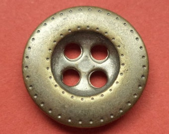 10 metal buttons silver gold 15 mm (5460) button metal