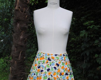 Mini skirt pleated  print chicks