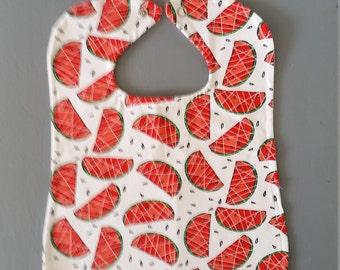 Oversized bib with watermelons