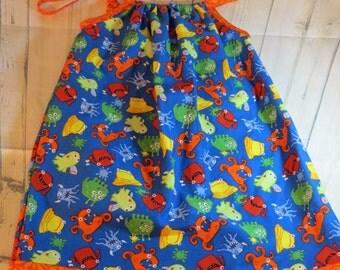 Monsters Pillowcase Style Dress