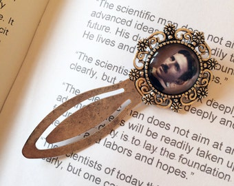 Nikola Tesla Bookmark - Tesla Alternating Current Gift, Inventor Bookmark, Electrical Engineer Gift, Nikola Tesla Antique Style Bookmark