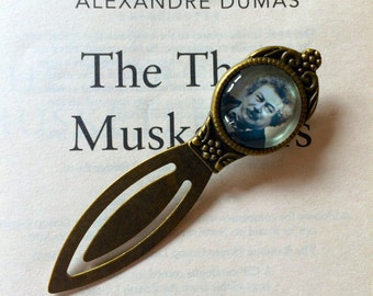 Alexandre Dumas Bookmark - The Three Musketeers Bookmark, Alexandre Dumas Gift, Count of Monte Cristo Book Mark, Antique style Bookmark