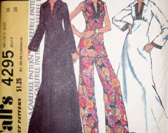 McCall's 4295 Vintage Misses Dress or Top and Pants (SZ 12/bust 34) Cut