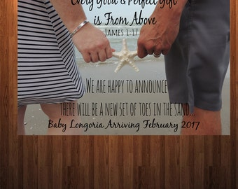 Customizable Pregnancy Annoucement, New Baby, Baby Annoucement