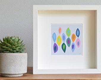 Modern Art Print, Wall Art, Limited Edition, Children's Decor, [Whimsical Shapes: Bright Pastel] UNFRAMED Print