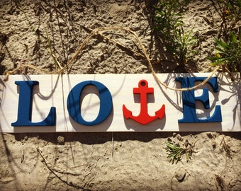 Nautical Love/Anchor Sign