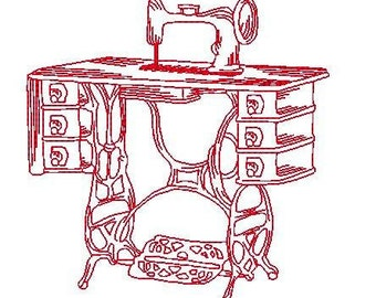 Vintage Sewing  ( 20 Machine Embroidery Designs -17 require 5x7 hoop- from ATW )