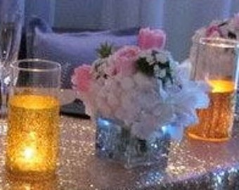 Hand Made Glitter Vase/Candleholder