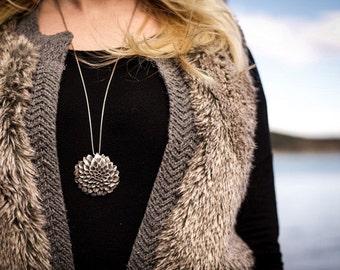 Dahlia Flower Necklace