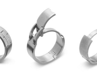 TG4 Hinged Titanium Active Mens Wedding Ring