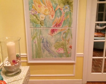 Coy Fish Watercolor Commission