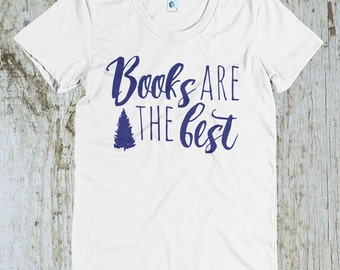 Books Are the Best Vintage Style American Apparel Polycotton T-Shirt