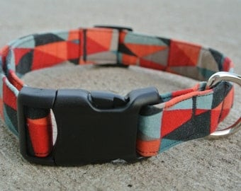 "Mutli-colored Triangle Abstract Collar- The ""Ranger"" Collar"
