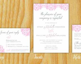 Printable Wedding Invitation - EDITED by ME - Printed by YOU