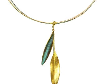 Olive Leaf Pendant 'Elia' by Ilios, Olive Leaf Necklace, Olive Leaf Jewelry, Olive Branch, Greek Jewelry, Greek Wedding, Wedding Jewelry