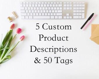 Product description bundle - 5 items